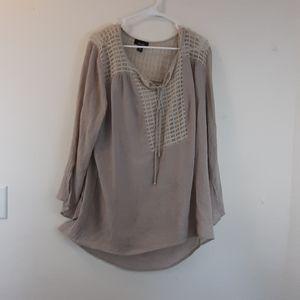 ALYX boho style long sleeve plus size blouse 2X